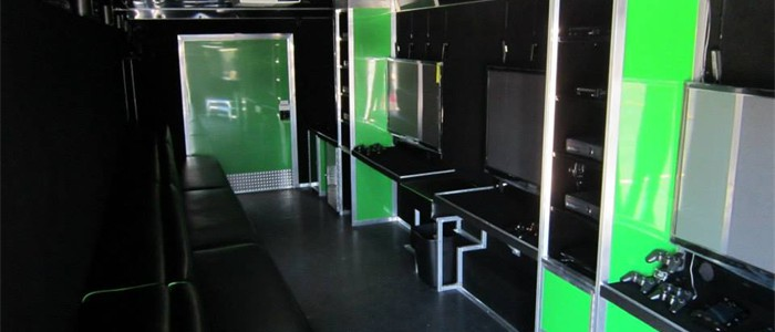 5 HUGE Hi-Def TV's in our Mobile Game Theater...